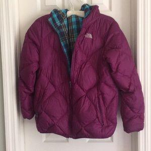 (Girls XL / 18) Reversible North Face Jacket